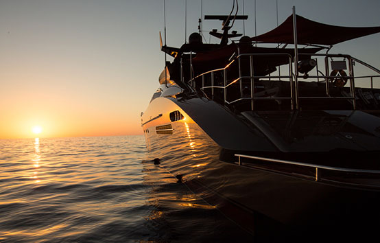 Ibiza Yacht Charter Palmer Johnson 120 sunset