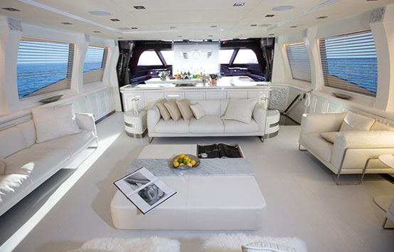 Ibiza Yacht Charter Palmer Johnson 120 living room