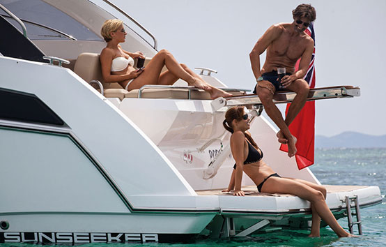 Ibiza Yacht Charter Sunseeker Portofino 40 exterior