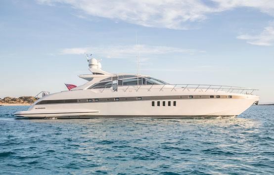 Ibiza Yacht Charter Mangusta 80