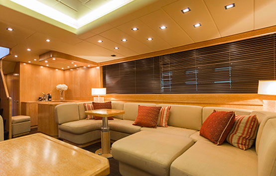 Ibiza Yacht Charter Mangusta 80 Interior