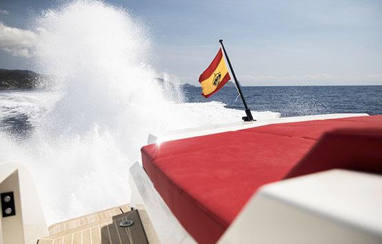 ibiza yacht charter vanquish VQ54