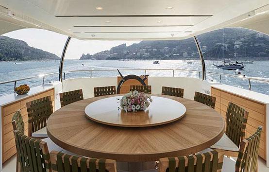 ibiza mega yacht charter San lorenzo 126