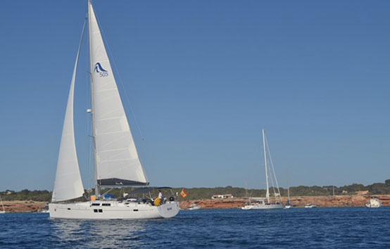 Ibiza sailboat charter Hanse 505