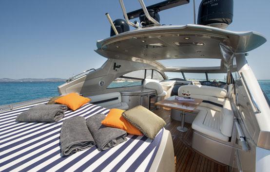 ibiza yacht charter Sunseeker Predator 61