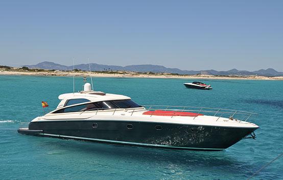 ibiza yacht charter Baia 54