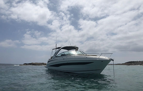 ibiza motorboat charter sea ray 37
