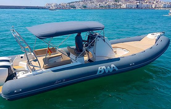 ibiza rib charter BWA 28
