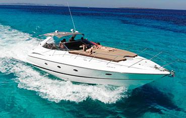 Ibiza Yacht charter sunseeker camargue 44