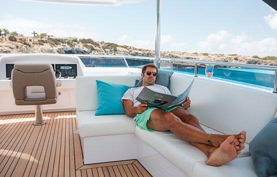 Ibiza yacht charter vanquish vq82