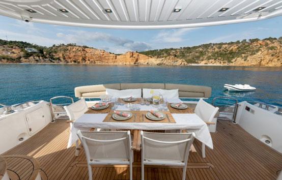 Ibiza yacht charter Manhattan 70