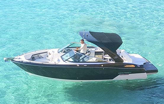 Ibiza motor boat charter Monterey 278 ss