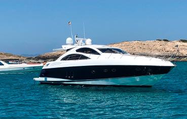 Ibiza yacht charter Sunseeker Preedator 62