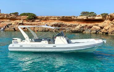 Ibiza rib boat rental Capelli tempest 800