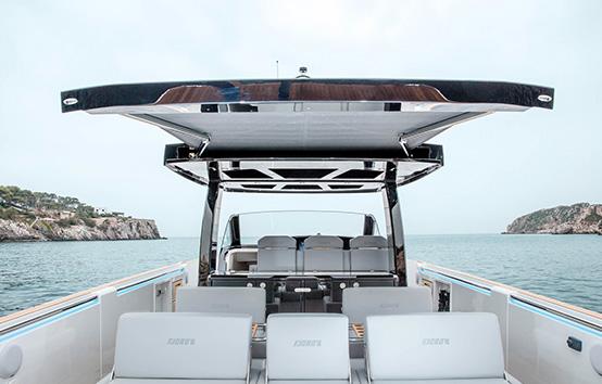 Alquiler lancha en Ibiza Fjord 44
